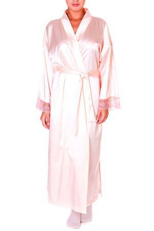 Халат Rose&Petal Homewear. Цвет: кристально-розовый, кружево