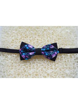 Галстук-бабочка BOB Accessories. Цвет: черный, фиолетовый