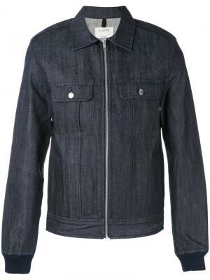 Джинсовая куртка-рубашка на молнии A.P.C.. Цвет: синий