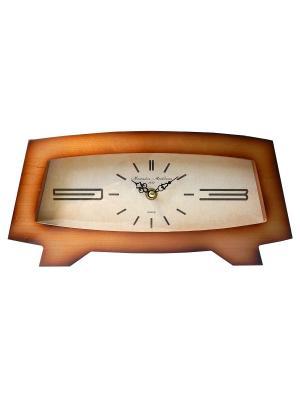 Часы настольные Михаилъ Москвинъ. Цвет: светло-коричневый