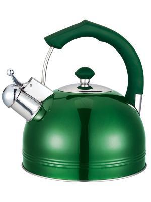 Чайник со свистком (газ/электро/индукция), 4 л BAYERHOFF. Цвет: салатовый