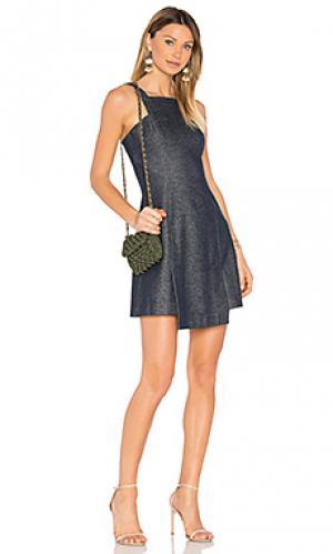 Платье двойной вязки sia Marissa Webb. Цвет: синий