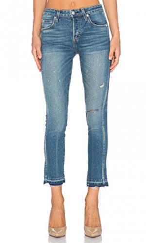 Узкие джинсы babe AMO. Цвет: none