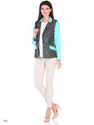 Пиджак EMILLIEN. Цвет: черный, бирюзовый