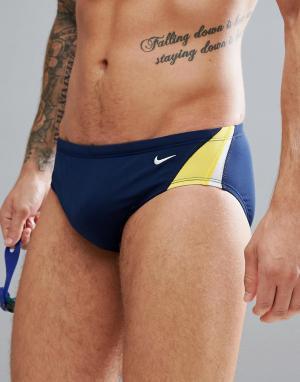 Nike Swimming Темно-синие плавки NESS7054-705. Цвет: темно-синий