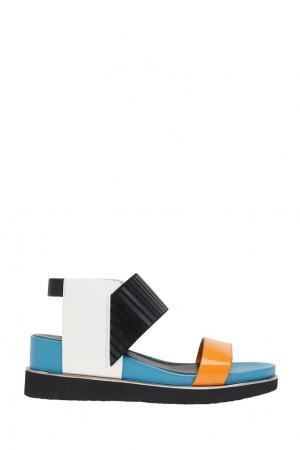 Кожаные сандалии  Rico United Nude. Цвет: бирюзовый, оранжевый, белый