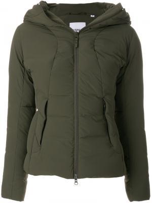 Дутая куртка Garzetta Aspesi. Цвет: зелёный