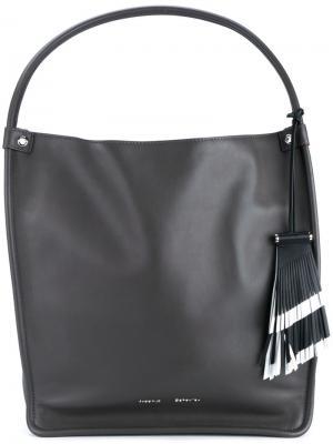 Средняя сумка-тоут Proenza Schouler. Цвет: серый