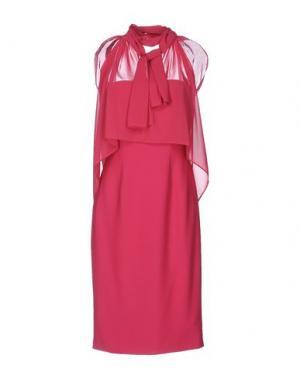 Короткое платье X'S MILANO. Цвет: фуксия
