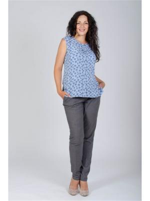 Блузка Лагуна. Цвет: синий