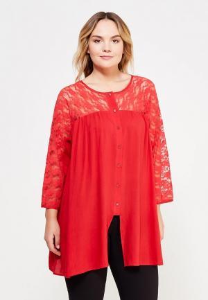 Блуза Zarus. Цвет: красный