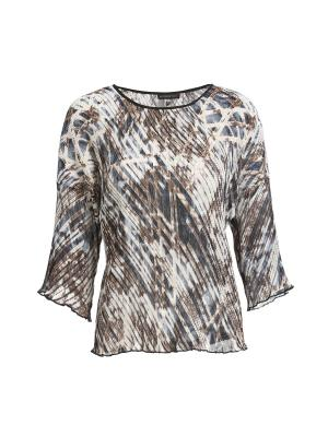 Блузка APART. Цвет: темно-коричневый, молочный, серый