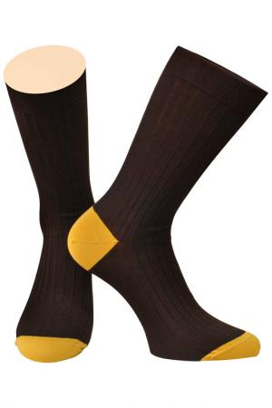 Носки Collonil. Цвет: коричневый, желтый