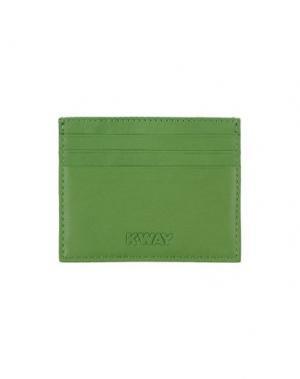 Чехол для документов K-WAY. Цвет: светло-зеленый