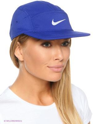 Бейсболка RUN WS AW84 Nike. Цвет: синий