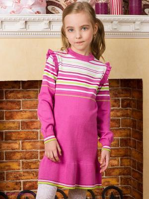 Платье PlayToday. Цвет: розовый, белый