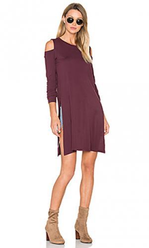 Платье-туника mara LA Made. Цвет: фиолетовый