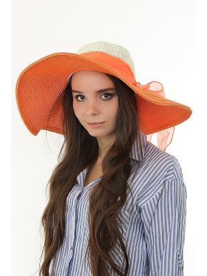 Шляпа Happy Charms Family. Цвет: оранжевый, белый