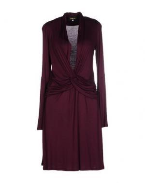 Платье до колена JO NO FUI. Цвет: пурпурный