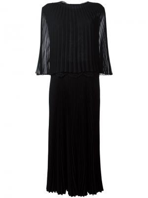Платье  x Bungalow Lorent Talbot Runhof. Цвет: чёрный