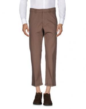 Повседневные брюки THE EDITOR. Цвет: хаки