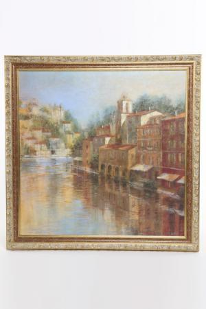 Постер Дома у реки50х70 см F.A.L. Цвет: мультицвет