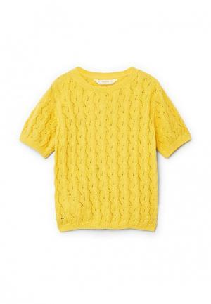 Джемпер Mango Kids. Цвет: желтый