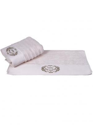 Махровое полотенце 70x140 ZAFIRA кремовый,100% хлопок HOBBY HOME COLLECTION. Цвет: кремовый