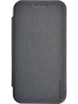 Samsung J1 (2015) Sparkle leather case Nillkin. Цвет: черный
