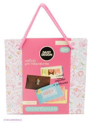 Набор для создания писем и открыток CARAMEL Daisy Design. Цвет: розовый