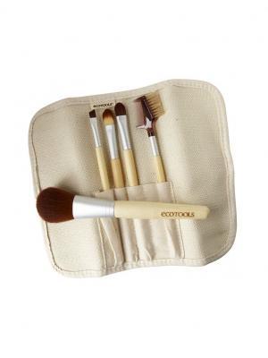 Ecotools Набор кистей для макияжа (6 шт) 6-piece Brush Set - Multilingual. Цвет: золотистый, черный, бронзовый