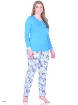 Пижама Комфорт Vilana. Цвет: голубой