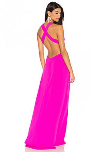 Вечернее платье с перекрестными шлейками на спине JILL STUART. Цвет: фуксия