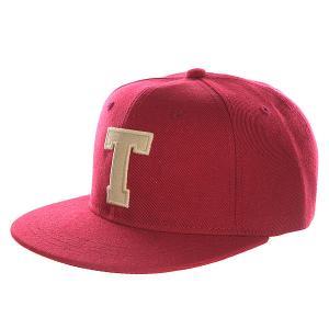 Бейсболка с прямым козырьком Truespin Abc Bordo T. Цвет: бордовый