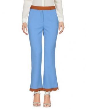 Повседневные брюки SIMONA CORSELLINI. Цвет: пастельно-синий