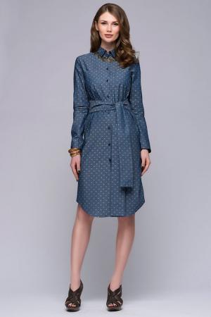 Платье-рубашка 1001dress. Цвет: голубой