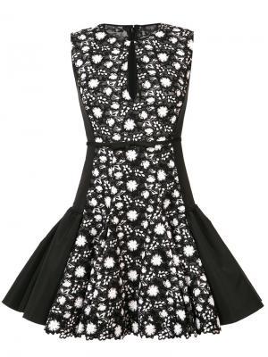 Расклешенное кружевное платье Giambattista Valli. Цвет: чёрный