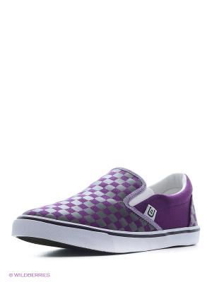 Слипоны 4U. Цвет: фиолетовый