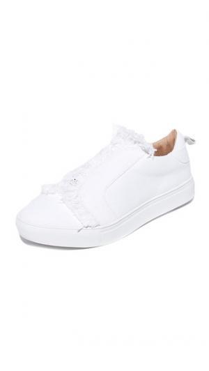 Кроссовки без шнурков с бахромой JAGGAR. Цвет: мел