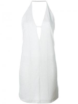 Платье миди Dondup. Цвет: металлический