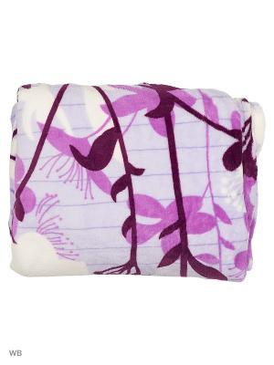 Плед, 150х200 Dorothy's Нome. Цвет: фиолетовый, белый