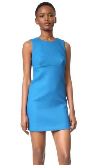 Платье-трапеция с отделкой в виде сердечка Milly. Цвет: голубой
