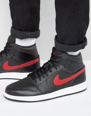 Jordan Черные кроссовки Nike Air 1 554724-009. Цвет: черный