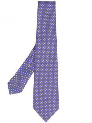 Square print tie Kiton. Цвет: синий