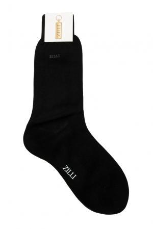 Носки из хлопка 158739 Zilli. Цвет: черный