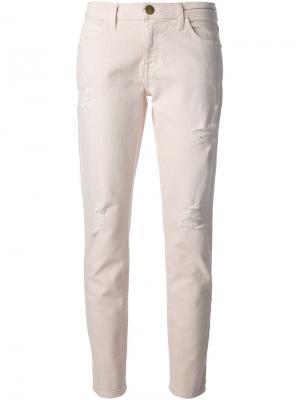 Очень узкие джинсы скинни  Fling Current/Elliott. Цвет: розовый и фиолетовый