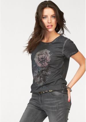 Футболка Aniston. Цвет: темно-серый