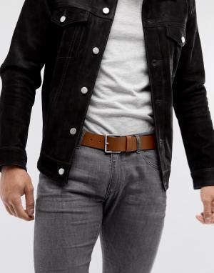 BOSS Светло-коричневый кожаный ремень Jeeko. Цвет: рыжий