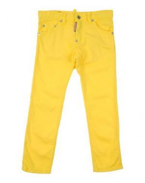 Джинсовые брюки DSQUARED2. Цвет: желтый