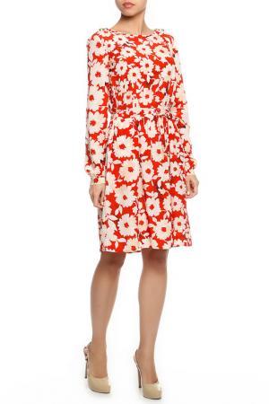 Платье TWIN-SET JEANS. Цвет: оранжевый